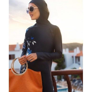 Floral Navy Burkini for Women