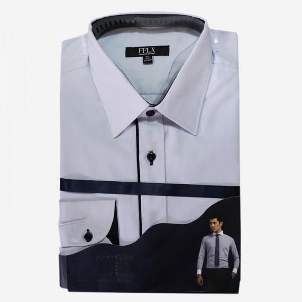 FFLX Black Striped Formal Shirt For Men