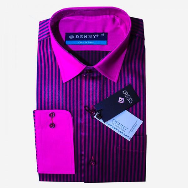 Denny Cotton Formal Shirt For Men in Purple Color