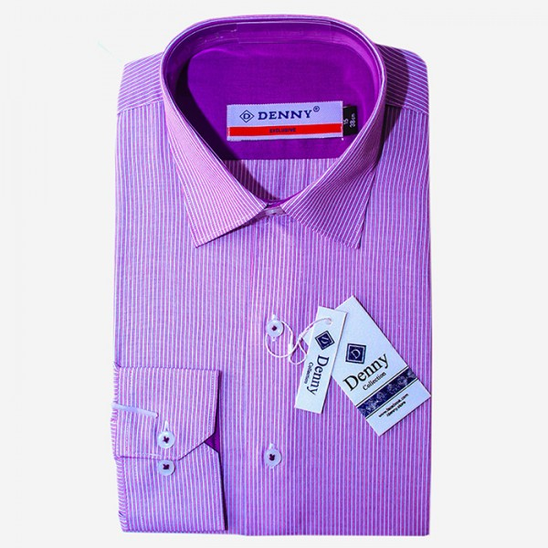Denny Cotton Purple Linning Formal Shirt For Men