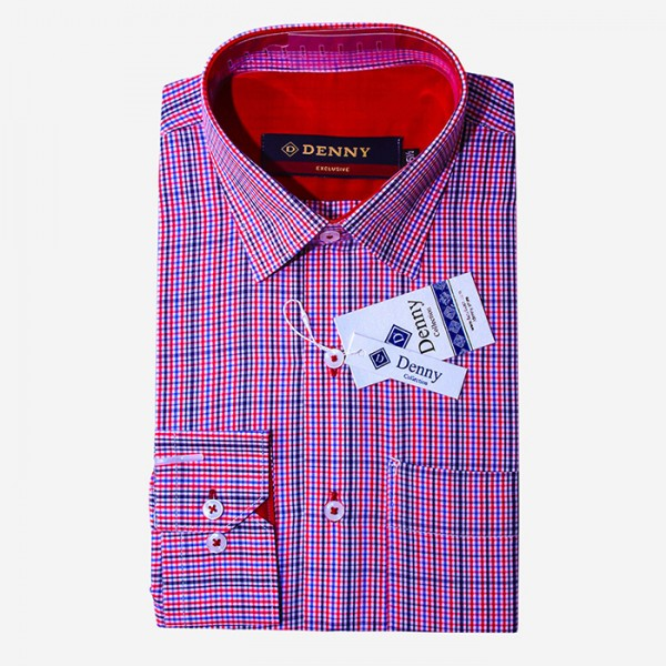 Denny Cotton Formal Checkered Shirt For Men