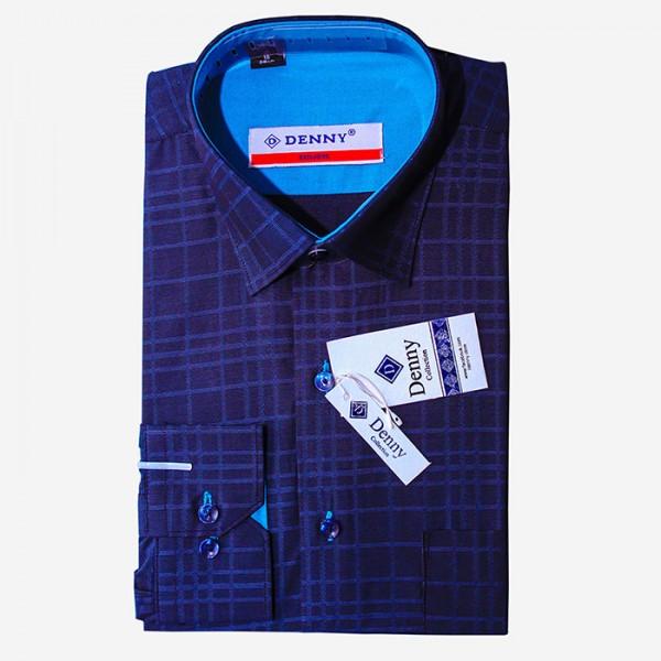 Denny Cotton Formal Shirt For Men in Blue Color