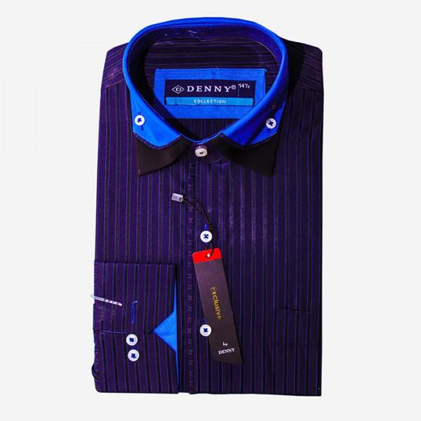 Denny Cotton Blue Linning Formal Shirt For Men