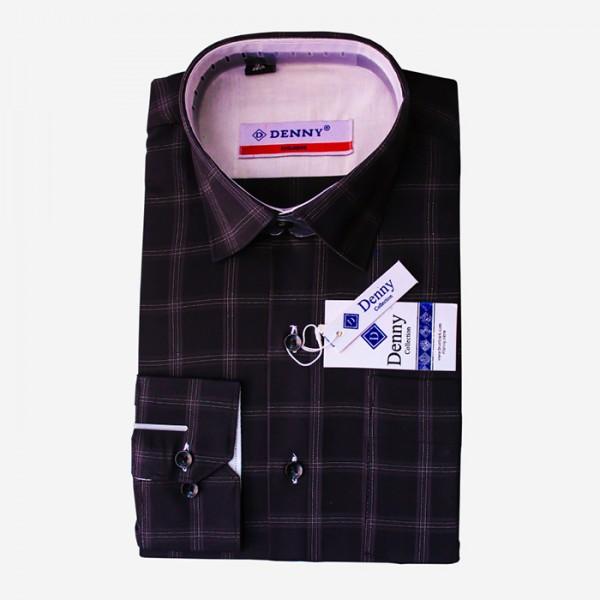 Denny Cotton Black Formal Shirt For Men