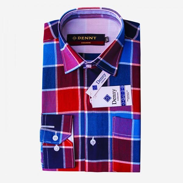 Denny Cotton Casual Checkered Shirt For Men