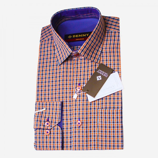 Denny Cotton Checkered Formal Shirt For Men