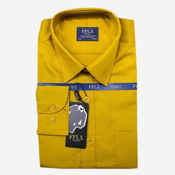 FFLX Mustard Color Formal Shirt For Men
