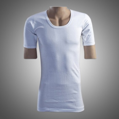 Mens cotton vest with sleeves medium size in white color
