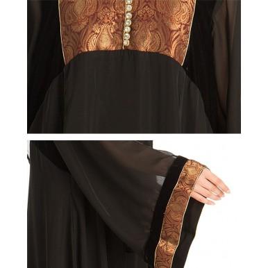Black Nadha Abaya For Women - AIP-007