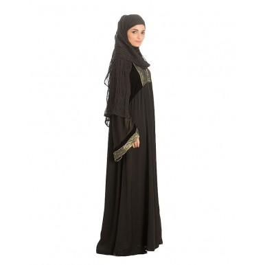 Black Nadha Abaya For Women - AIP-008