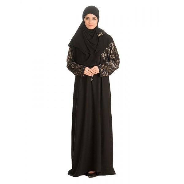 Black Nadha Abaya For Women - AIP-006
