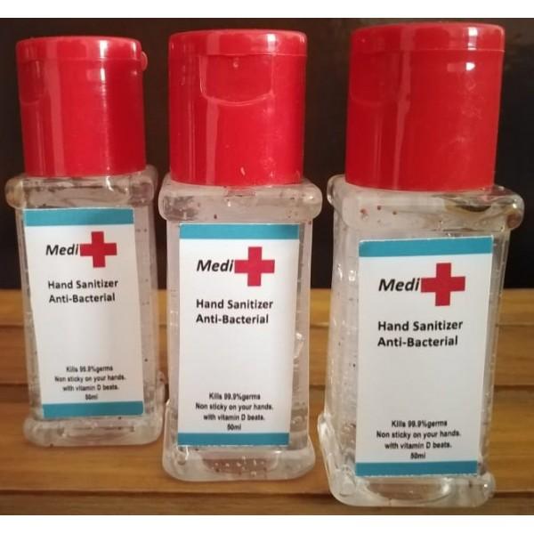 Anti-Bacterial Hand Sanitizer-50ml Pack of 3 Medi Plus