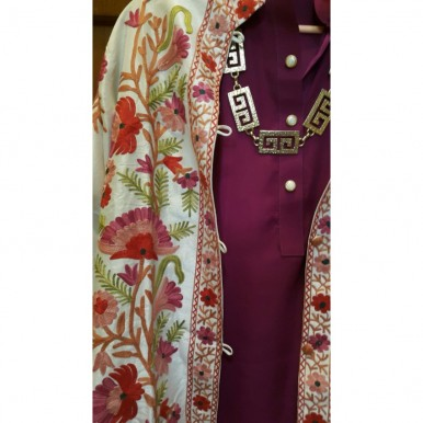 Irum Fawwad Classics - Hand Embroidered Khasmiri Coats A6