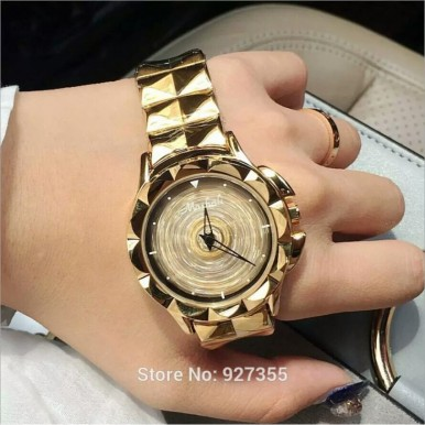 Rotating Crystal watch for Women Imported High Quality 2017