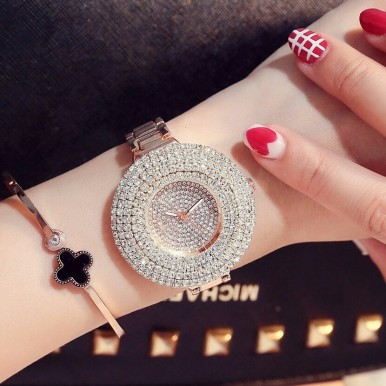 Crystal Watch Rose Gold Watch for Her
