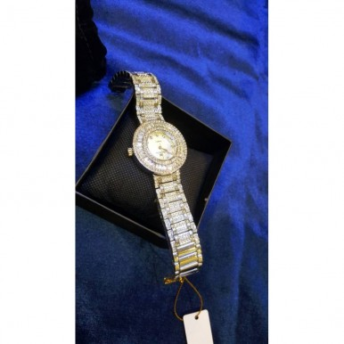 Crystal Silver watch for Her