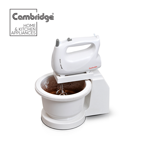 Cambridge Hand Mixer- Beater with bowl - HM104 - White