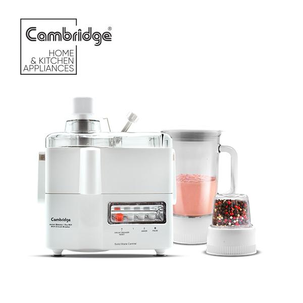 Cambridge JB400 - 3-in-1 Juicer Blender in White Colour