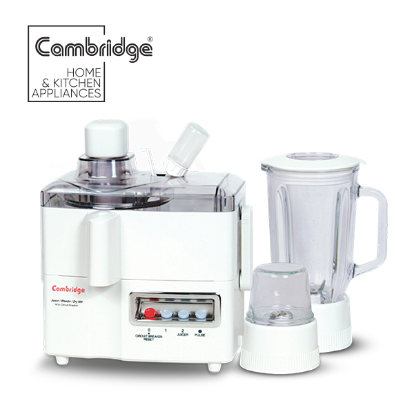 Cambridge JB660 - 3 in 1 Juicer Blender - 300W - White