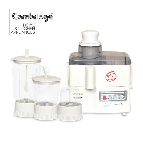 JB69 - Cambridge Original 1 liter glass jug whole apple juicer - 400W - white