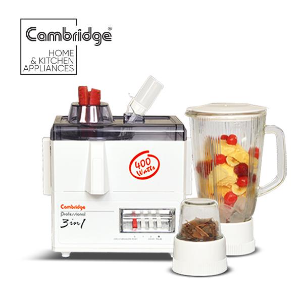 JB70 - Cambridge Original 3 in 1 Juicer Blender - 400W in White Colour