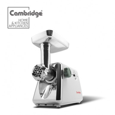 CAMBRIDGE MG 277 - Meat Grinder - Black and Silver (Brand Warranty)