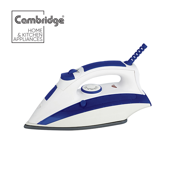 Cambridge Official ST 782 - Steam Iron - Blue and White Colour