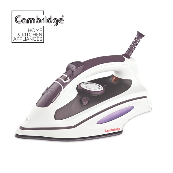 Cambridge Original Steam Iron in White and Purple Colour