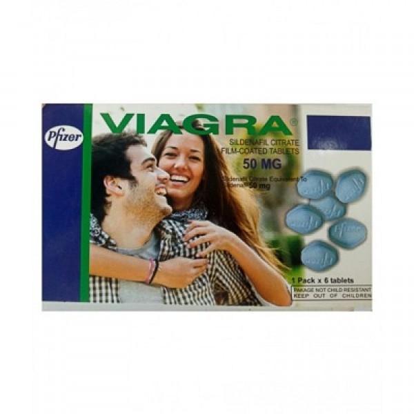 Pfizer Viagra 50 mg 6 Tablets Card ( USA )