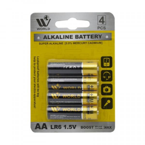 WBM World Long-Lasting  Alkaline Battery AAA 4PCS