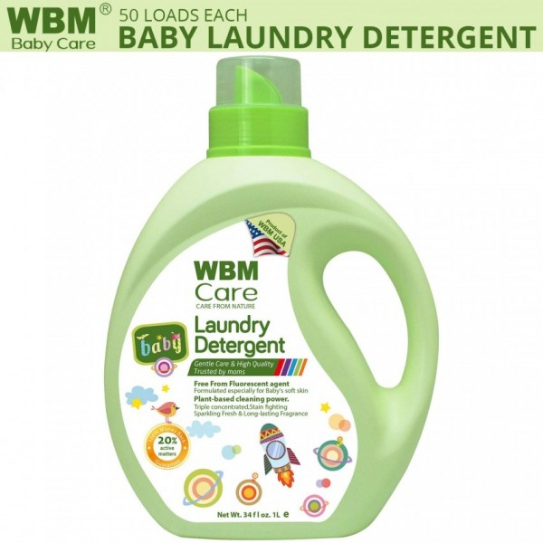 WBM Care Baby Laundry Detergent with Long Lasting Fragrance - 1 Liter