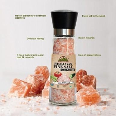 Himalayan Chef Natural pink salt Tall Grinder -368G