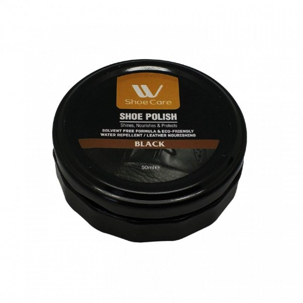 W-Shoe Care Instant Shine Shoe Polish Black-50 ml