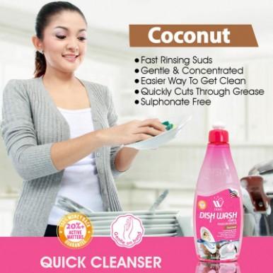WBM Home 4 In 1 Gift Set Dish Wash Gel Coconut Lemon Green Tea Blood Orange Aloe and Jasmine- 500Ml Each