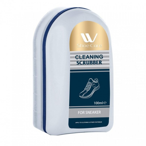 W-Shoe Care Shoe Shine and Cleaning Scrubber-100ml