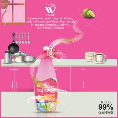 WBM Home Blood Orange sulphonate free Liquid Dish Wash Gel - 500ml (3-Pack)