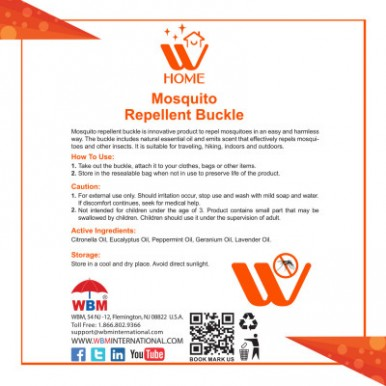 WBM Home Mosquito Repellent Buckle Star