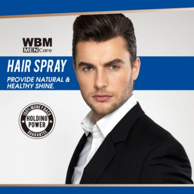 WBM Men Care Hair Spray - Long Lasting Hair Spray Up to 24 Hr-180ml
