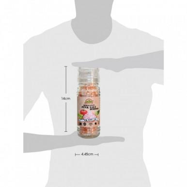 Himalayan Pink Salt Refillable Coarse Small Grinder-100g