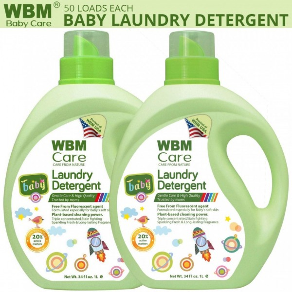 WBM Baby Care Liquid Laundry detergent Gentle Care and High Quality-1Kg Each (Pack of 2)