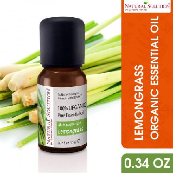 Natural Solution Multi-Purpose Organic Lemon Grass Essential Oil- 10ml