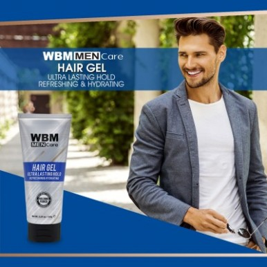 WBM Men Care Hair & Skin Care Gift Set With Face Wash, Gel, Dry Shampoo And Hair Spray- 4 Pack