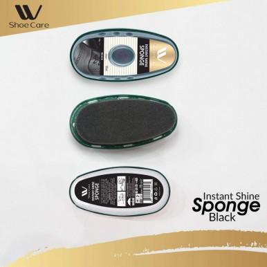 W-Shoe Care Instant Black Shine Sponge-11ml