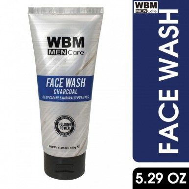 WBM Men Care Charcoal  Deep Cleans Face Wash-150 g