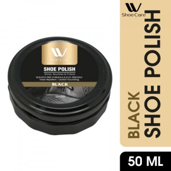 W-Shoe Care water repelent  Black Shoe Polish-50ml