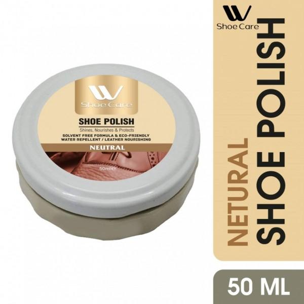W-Shoe Care Neutral shoe Polish shine Nourish and protects-50ml
