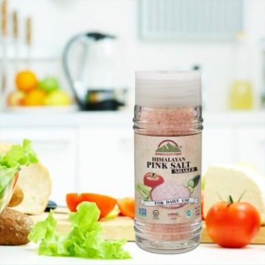 Himalayan Chef Pink salt Small Glass Shaker-100G