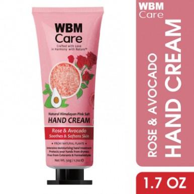 WBM Care Extra Moisturizing Rose and Avocado Hand Craem-50 g