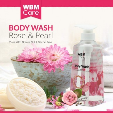 WBM Care Moisturizing Nourishing Body Wash With Rose and Pearl- 500ml