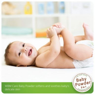WBM Baby Care 100 percent Natural Talc-free 3 in 1 Baby Powder
